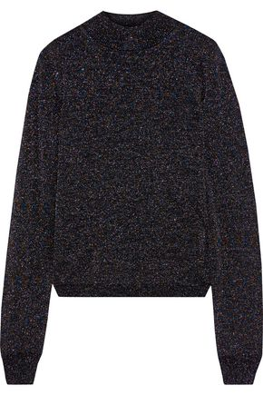 IRIS & INK Karrigan metallic wool-blend sweater