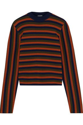 IRIS & INK Seri striped merino wool sweater