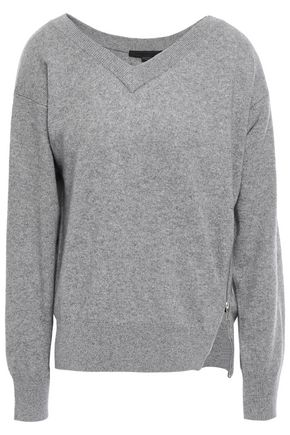 ALEXANDER WANG Zip-detailed knitted sweater