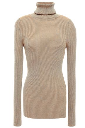 FORTE_FORTE Ribbed stretch-knit turtleneck sweater