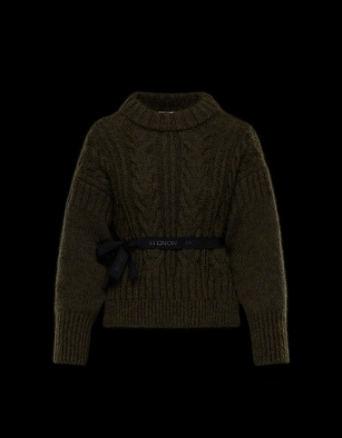 CREWNECK Dark green Knitwear Woman