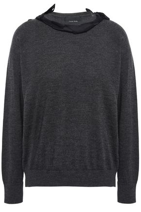 SIMONE ROCHA Bow-embellished merino wool, silk and cashmere-blend sweater