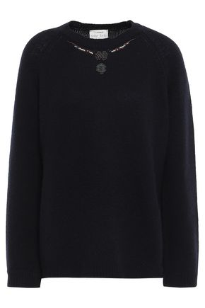 FORTE_FORTE Bead-embellished cashmere sweater