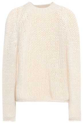FORTE_FORTE Open-knit silk, mohair and cashmere-blend sweater
