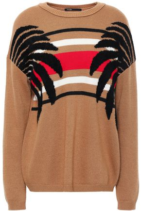 MAJE Intarsia-knit sweater
