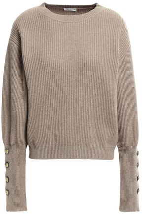 BRUNELLO CUCINELLI Button-detailed ribbed cashmere sweater
