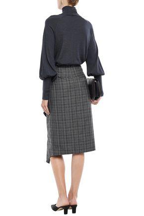 BRUNELLO CUCINELLI ビーズ付き カシミヤ&シルク混 タートルネックセーター