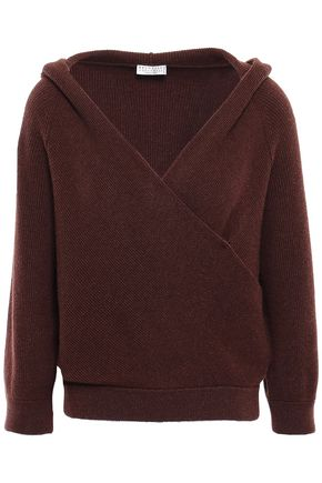 BRUNELLO CUCINELLI Wrap-effect cashmere hooded jumper