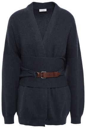 BRUNELLO CUCINELLI Belted cashmere cardigan