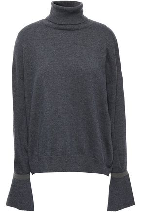 BRUNELLO CUCINELLI Bead-embellished cashmere turtleneck sweater