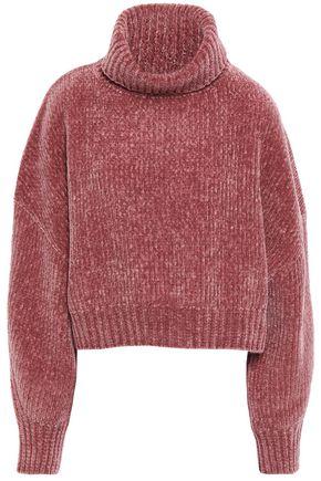 BRUNELLO CUCINELLI リブ編みカシミヤ混シェニール タートルネックセーター