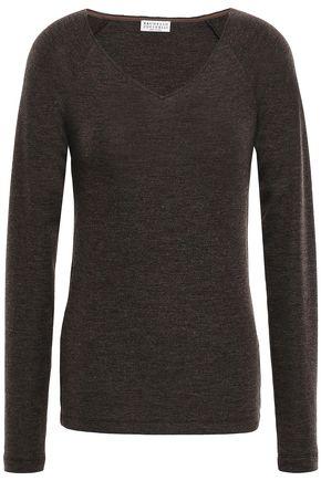 BRUNELLO CUCINELLI Bead-embellished wool-blend sweater