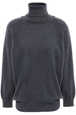 BRUNELLO CUCINELLI Wrap-effect cashmere turtleneck sweater