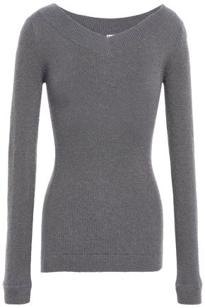 BRUNELLO CUCINELLI Metallic ribbed-knit top