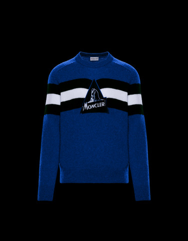 CREWNECK Blue Knitwear & Sweatshirts Man