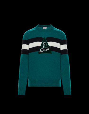 CREWNECK Emerald green Category Crewnecks Man