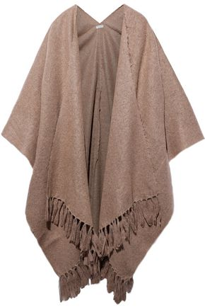 BRUNELLO CUCINELLI Fringe-trimmed knitted wrap