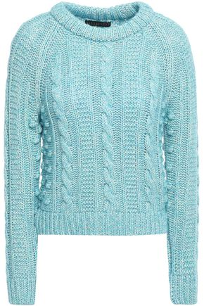 ALEXACHUNG Cable-knit cotton-blend sweater