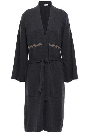 BRUNELLO CUCINELLI Belted bead-embellished cashmere cardigan