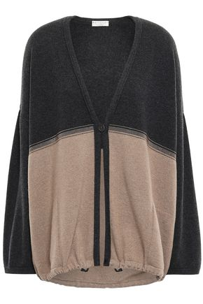 BRUNELLO CUCINELLI Oversized beaded-embellished cashmere cardigan
