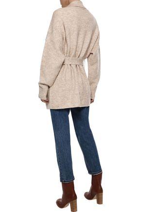 IRIS & INK Katla belted brushed-knitted cardigan