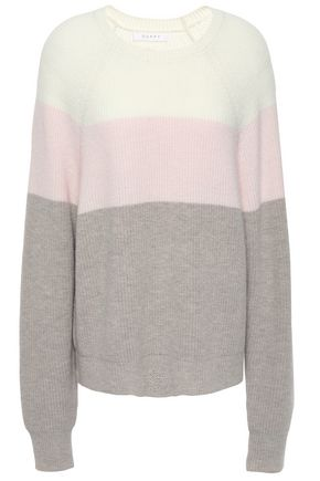 DUFFY Color-block wool-blend sweater