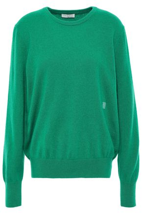 SANDRO Embroidered cashmere sweater