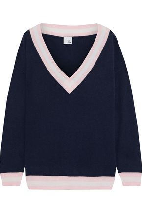 IRIS & INK Markus striped cashmere sweater
