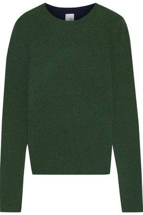IRIS & INK Hilda two-tone ribbed cashmere sweater