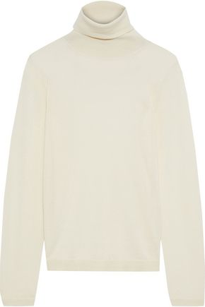 IRIS & INK Katri cashmere and silk-blend turtleneck sweater