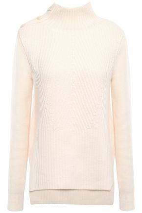 VERONICA BEARD Rama ribbed merino wool and cashmere-blend turtleneck sweater