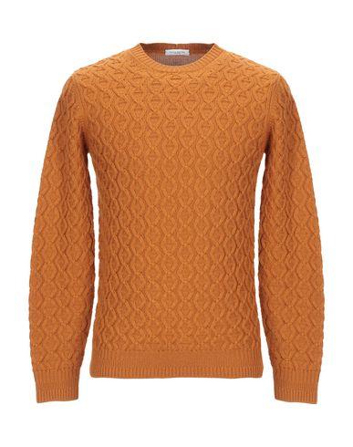 Купить Мужской свитер PAOLO PECORA оранжевого цвета