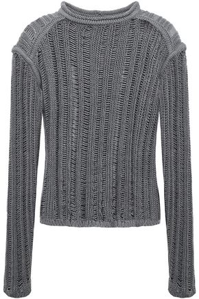 RICK OWENS Open-knit silk sweater