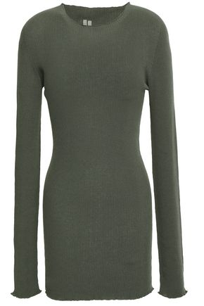 RICK OWENS Ribbed cotton sweater