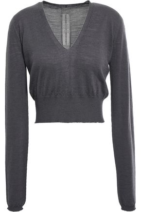 RICK OWENS Rib-trimmed virgin wool sweater