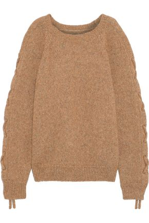 IRO Mystic cold-shoulder lace-up alpaca-blend sweater