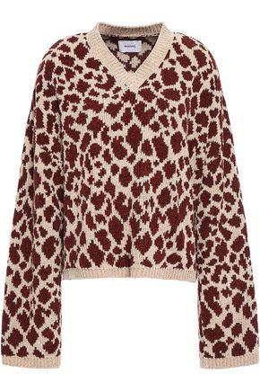 NANUSHKA Jamel jacquard-knit sweater