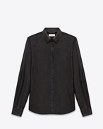 Signature Yves Collar Shirt in Black Leather