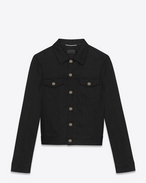 SAINT LAURENT Casual Jackets U ORIGINAL JEAN JACKET IN Raw Black STRETCH DENIM f
