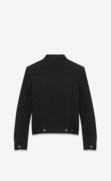 SAINT LAURENT Casual Jackets U ORIGINAL JEAN JACKET IN Raw Black STRETCH DENIM b_V4