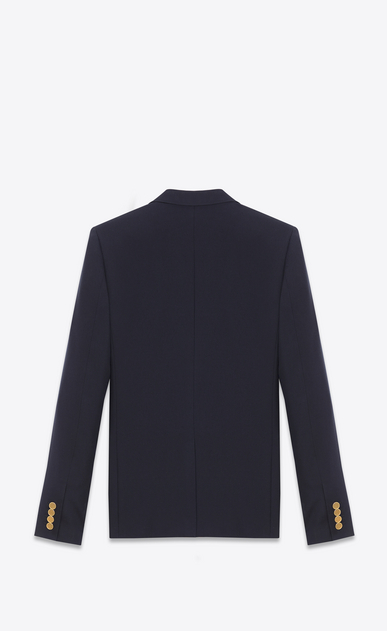 SAINT LAURENT Blazer Jacket U CLASSIC CROPPED BLAZER IN Blue WOOL GABARDINE b_V4