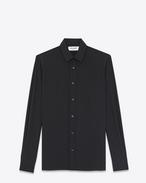 SIGNATURE YVES COLLAR SHIRT IN Black Silk
