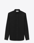 SAINT LAURENT Classic Shirts U Signature Dylan COLLAR SHIRT in Black COTTON POPLIN f