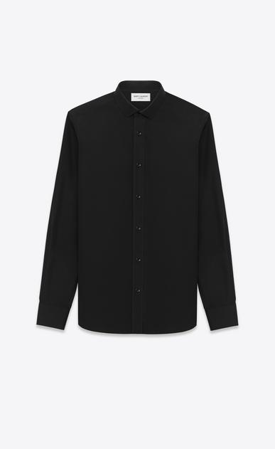 SAINT LAURENT Classic Shirts U Signature Dylan COLLAR SHIRT in Black COTTON POPLIN v4
