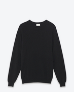 SAINT LAURENT Cashmere Tops U Classic Saint Laurent Crew NECK sweater IN Black CASHMERE f