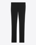 SAINT LAURENT Classic Pant U iconic le smoking trouser in black grain de poudre textured wool f