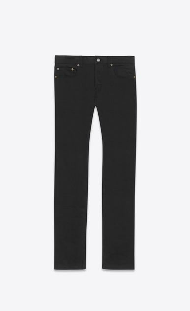SAINT LAURENT Slim fit U Tief geschnittene Jeans in schmaler Passform aus schwarzem Stretch-Denim v4