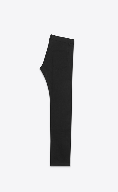 SAINT LAURENT Slim fit U ORIGINAL LOW WAISTED Slim JEAN IN Black Stretch Denim b_V4