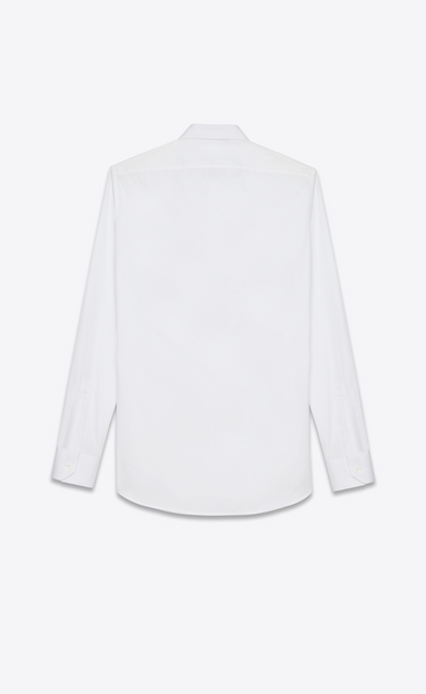 SAINT LAURENT Classic Shirts U Signature Dylan COLLAR SHIRT in White COTTON POPLIN b_V4