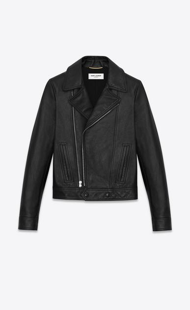SAINT LAURENT Vestes Cuir D blouson motorcycle souple en cuir noir a_V4